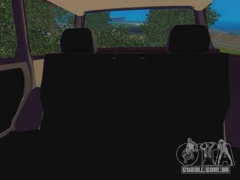 VAZ-2109 Imóveis para GTA San Andreas vista traseira