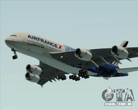Airbus A380-800 Air France para GTA San Andreas vista traseira