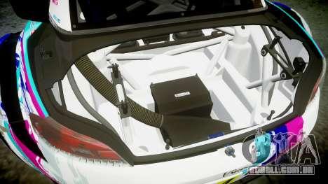 BMW Z4 GT3 2014 Goodsmile Racing para GTA 4 vista inferior