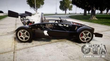 Ariel Atom V8 2010 [RIV] v1.1 FUEA Equipped para GTA 4 esquerda vista