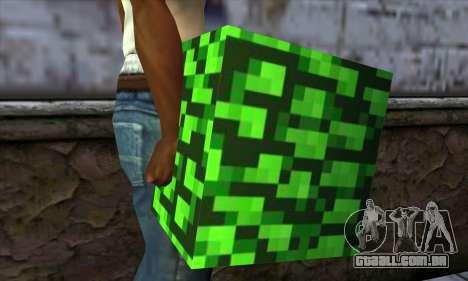 Bloco (Minecraft) v12 para GTA San Andreas terceira tela