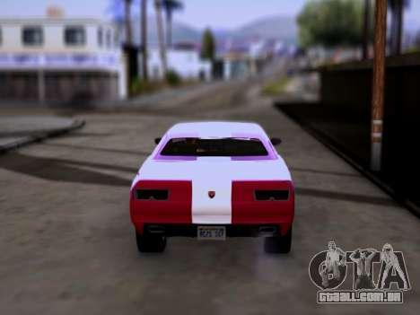 Bravado Gauntlet GTA 5 para GTA San Andreas traseira esquerda vista
