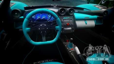 Pagani Zonda Uno para GTA 4 vista de volta