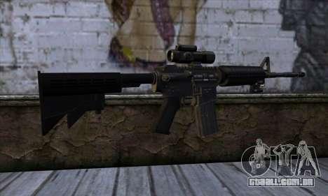 New M4 para GTA San Andreas segunda tela
