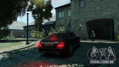Mercedes-Benz W221 S63 AMG para GTA 4 vista direita
