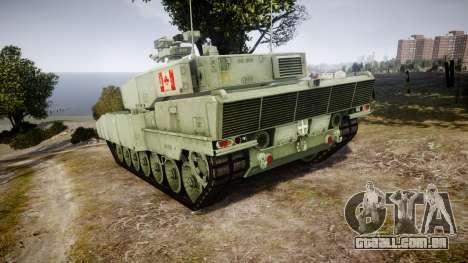 Leopard 2A7 CA Green para GTA 4 traseira esquerda vista