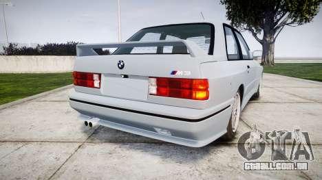 BMW M3 E30 1991 [EPM] para GTA 4 traseira esquerda vista