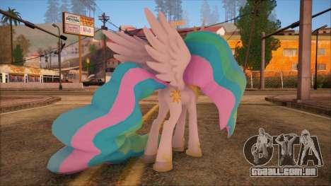 Celestia from My Little Pony para GTA San Andreas segunda tela