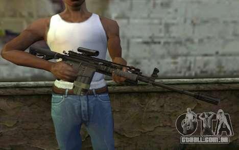 M4A1 from COD Modern Warfare 3 v2 para GTA San Andreas terceira tela