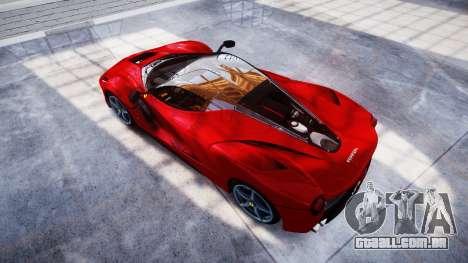 Ferrari LaFerrari para GTA 4 vista direita