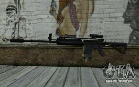 M4A1 from COD Modern Warfare 3 v2 para GTA San Andreas