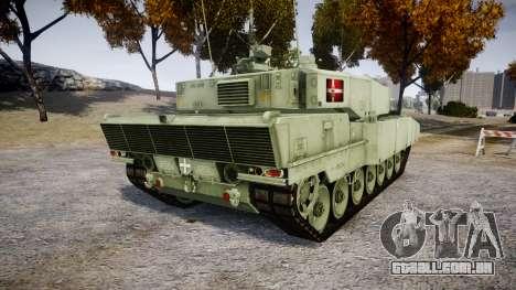 Leopard 2A7 DK Green para GTA 4 traseira esquerda vista