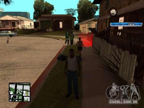 C-HUD by SampHack v.17 para GTA San Andreas terceira tela