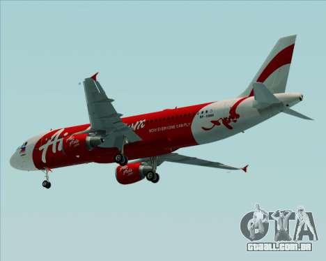 Airbus A320-200 Air Asia Philippines para GTA San Andreas vista traseira