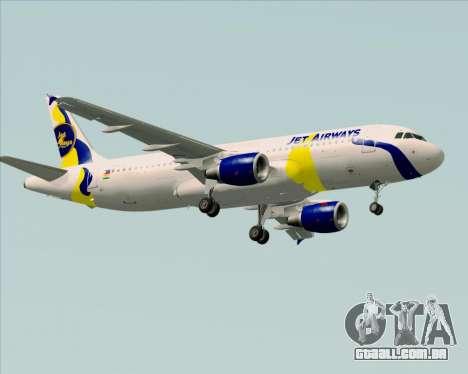 Airbus A320-200 Jet Airways para GTA San Andreas vista direita