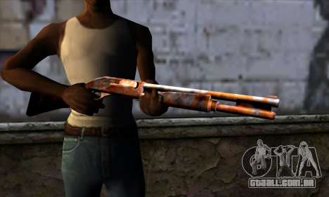 Chromegun v2 Enferrujado para GTA San Andreas terceira tela