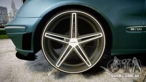 Mercedes-Benz W211 E55 AMG Vossen VVS CV5 para GTA 4 vista de volta
