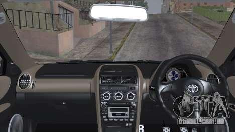 Toyota Altezza (RS200) 2004 (IVF) para GTA San Andreas traseira esquerda vista