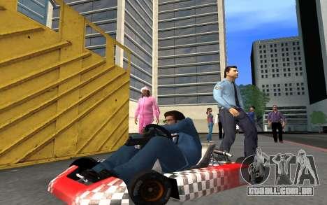 Atualizado Kart para GTA San Andreas para GTA San Andreas vista traseira