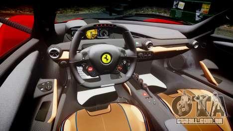 Ferrari LaFerrari para GTA 4 vista interior