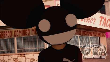 Deadmau5 Skin para GTA San Andreas terceira tela