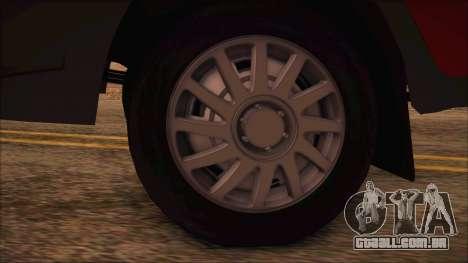 GAZel 3302 Negócios para GTA San Andreas traseira esquerda vista