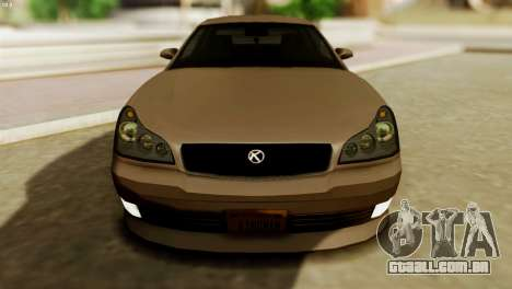 GTA 5 Intruder Tuning Bumpers para GTA San Andreas vista direita