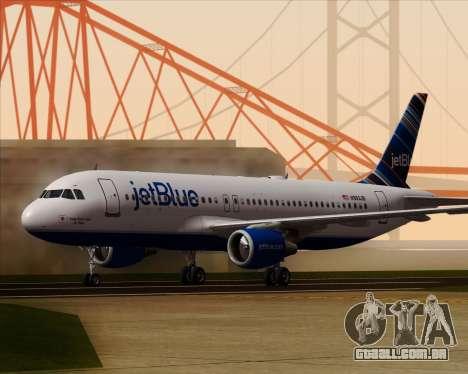 Airbus A320-200 JetBlue Airways para GTA San Andreas esquerda vista