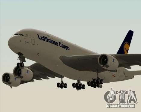 Airbus A380-800F Lufthansa Cargo para GTA San Andreas vista interior