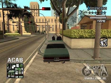 C-HUD by Edya para GTA San Andreas terceira tela