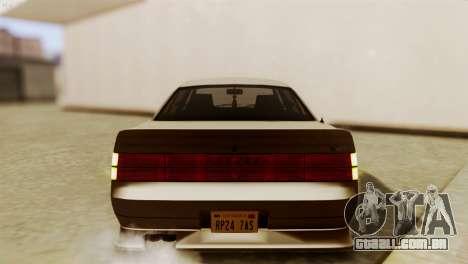 GTA 5 Intruder Tuning Bumpers para GTA San Andreas vista traseira
