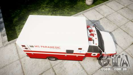 Vapid V-240 Ambulance para GTA 4 vista direita
