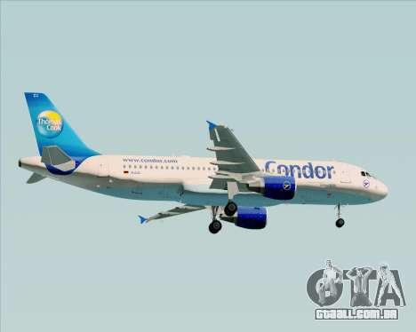 Airbus A320-200 Condor para GTA San Andreas vista traseira
