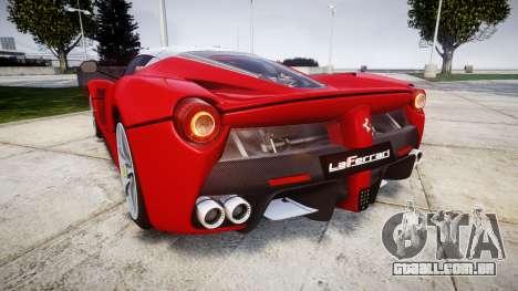 Ferrari LaFerrari para GTA 4 traseira esquerda vista