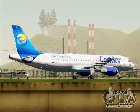 Airbus A320-200 Condor para GTA San Andreas vista interior