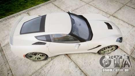 Chevrolet Corvette C7 Stingray 2014 v2.0 TireYA1 para GTA 4 vista direita