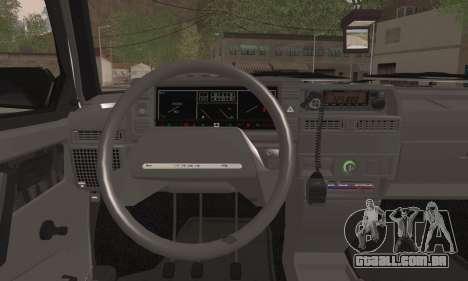 VAZ 2109 PPP para GTA San Andreas traseira esquerda vista