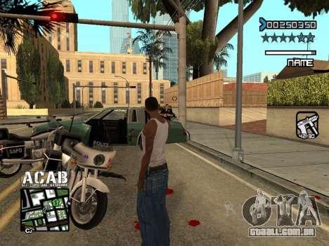 C-HUD by Edya para GTA San Andreas por diante tela