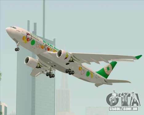 Airbus A330-200 EVA Air (Hello Kitty) para GTA San Andreas vista interior