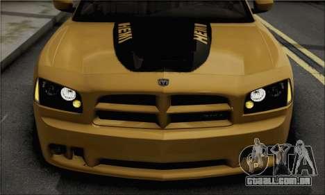 Dodge Charger SuperBee para GTA San Andreas traseira esquerda vista