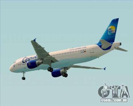 Airbus A320-200 Condor para GTA San Andreas vista direita