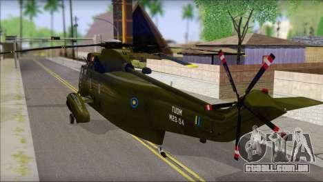 Helicopter Nuri Malaysia Mod (Seaking) para GTA San Andreas esquerda vista