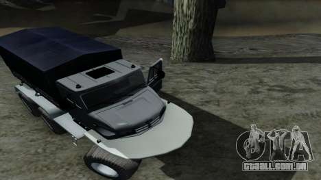 ZIL Kerzhak 6x6 para GTA San Andreas vista interior