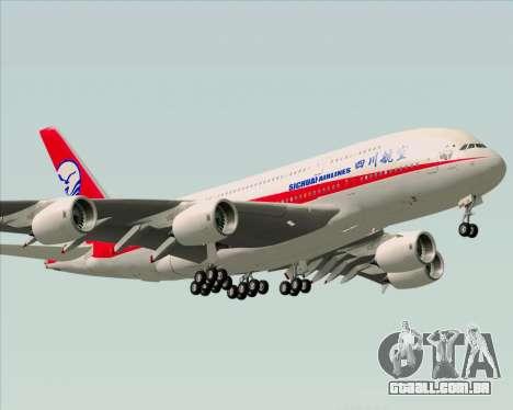Airbus A380-800 Sichuan Airlines para GTA San Andreas vista interior