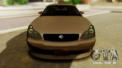 GTA 5 Intruder Tuning Bumpers para GTA San Andreas traseira esquerda vista