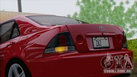 Toyota Altezza (RS200) 2004 (IVF) para GTA San Andreas vista interior