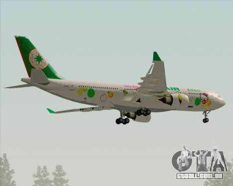 Airbus A330-200 EVA Air (Hello Kitty) para GTA San Andreas vista superior