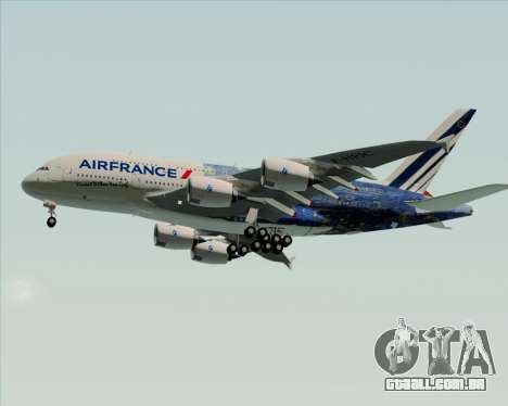 Airbus A380-800 Air France para GTA San Andreas vista superior