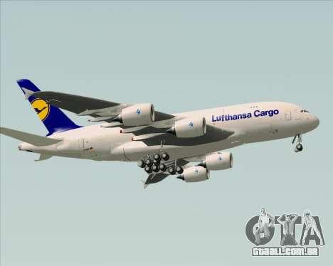 Airbus A380-800F Lufthansa Cargo para GTA San Andreas vista traseira