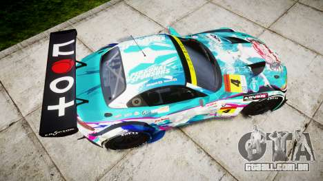 BMW Z4 GT3 2014 Goodsmile Racing para GTA 4 vista direita
